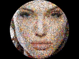 Angelina in a Circular Photo Mosaic