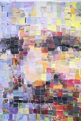 Tim Berners Lee in a Torn Paper Mosaic