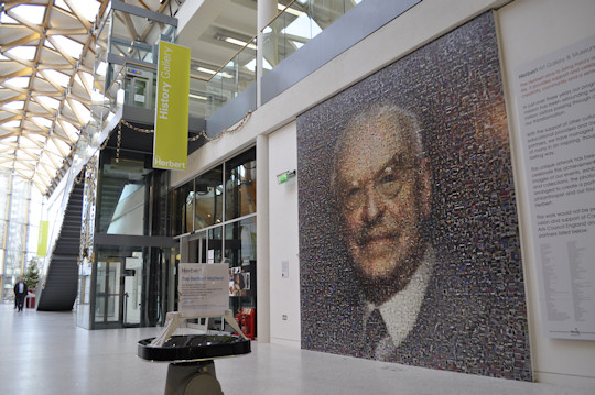 The photo mosaic in the entrance hall of The Herbert Art Gallery and Museum